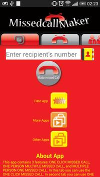 Missed Call Maker Free apk screenshot