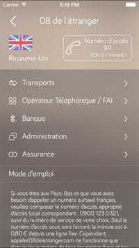 Appeler 08 De L'Etranger apk screenshot