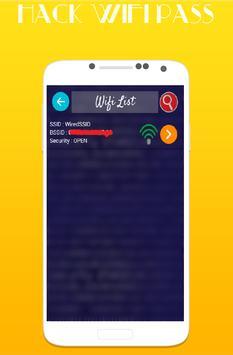 Wifi Password Hack Simulated apk screenshot