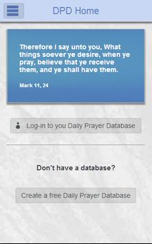 DPD - Daily Prayer Database poster