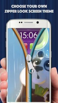 Zipper Lock Screen Cute Panda poster
