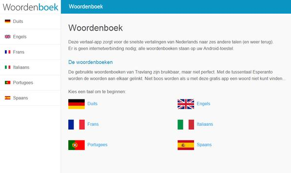 Woordenboek - 6 talen vertalen apk screenshot