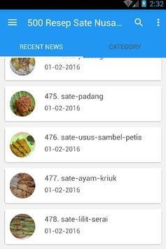 500 Resep Sate Nusantara Enak apk screenshot