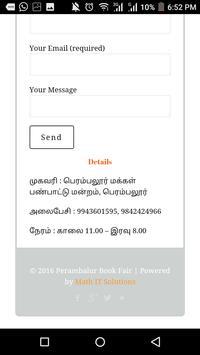 Perambalur Bookfair apk screenshot