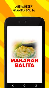 Resep Makanan Balita poster