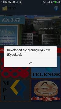 Boss(ေဘာစိ) apk screenshot