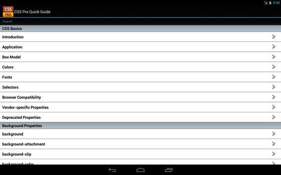 CSS Pro Free apk screenshot