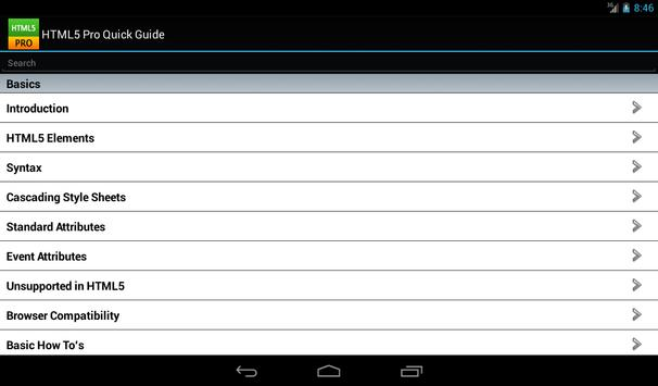 HTML5 Pro Free apk screenshot