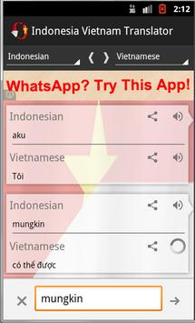 Indonesian Vietnam Translator apk screenshot
