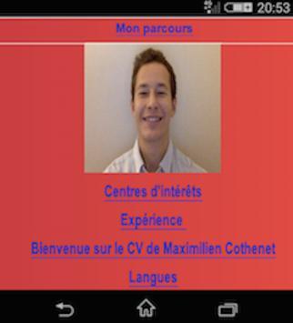 Maximilien Cothenet CV apk screenshot