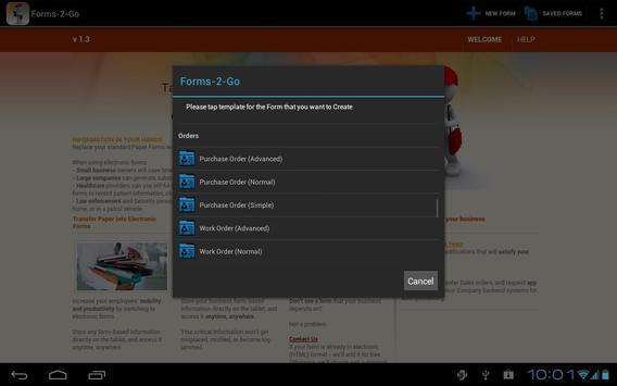 Forms-2-Go HD apk screenshot