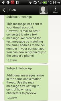 Email To SMS (Text) Lite apk screenshot