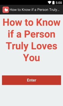 Know if a Person Loves You poster