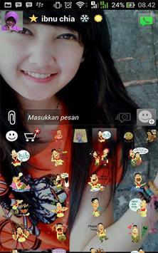 Tema bbm transparant apk screenshot