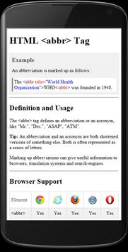 HTML Reference apk screenshot