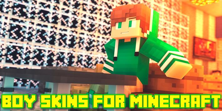 Boy Skins For Minecraft PE poster