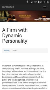 Rawashdeh & Partners Law Firm apk screenshot