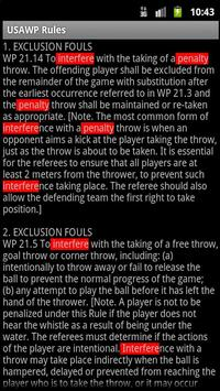 USA Water Polo Rulebook apk screenshot