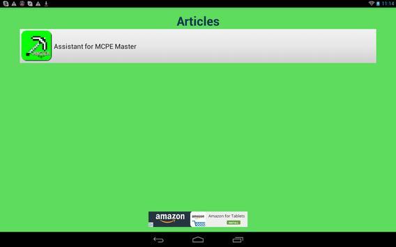 Master Assistant for MCPE apk screenshot
