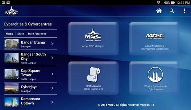 MSC Cybercities & Cybercentres apk screenshot