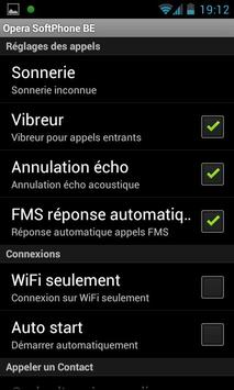 Opera Softphone BE apk screenshot