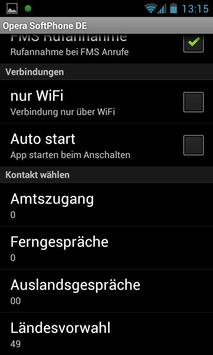 Opera Softphone DE apk screenshot
