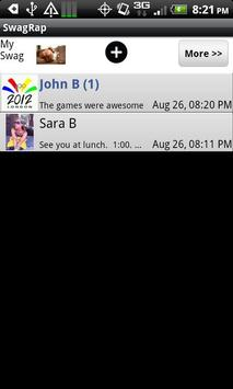 SwagRap SMS (Beta Version) apk screenshot