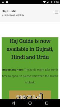 Haj guide in Hindi and Gujrati poster