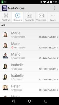 Media5-fone VoIP SIP Softphone apk screenshot