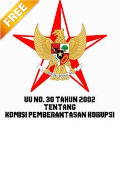 UU KPK NO. 30 TAHUN 2002 poster