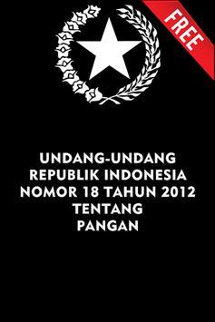 UU PANGAN NO. 18 TAHUN 2012 poster