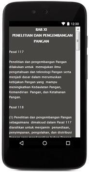UU PANGAN NO. 18 TAHUN 2012 apk screenshot