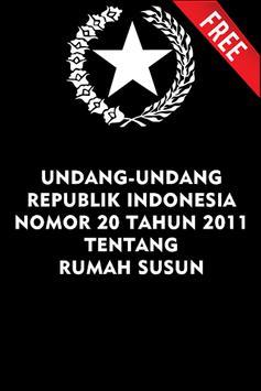 UU RUMAH SUSUN NO. 20 TH 2011 poster