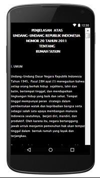 UU RUMAH SUSUN NO. 20 TH 2011 apk screenshot