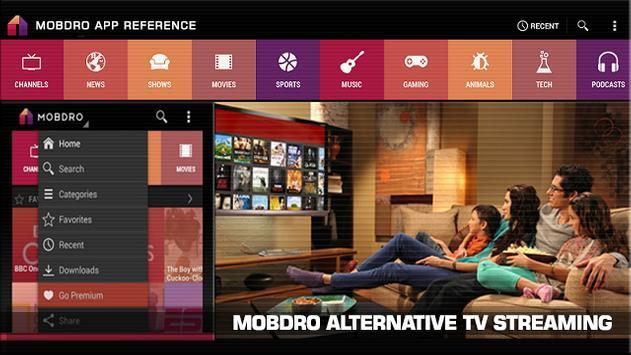 Alternative Mobdro Review apk screenshot