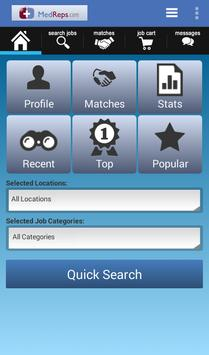 MedReps Mobile Job Search App poster