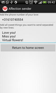 Affection sender poster