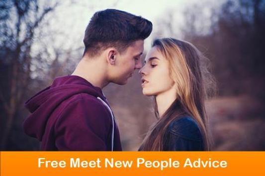 Free Meet New People Advice poster