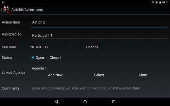 Meeting Minutes Trial apk screenshot