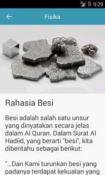 Keajaiban dalam Al Qur'an apk screenshot