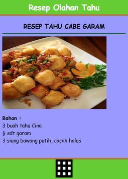 Resep Olahan Tahu apk screenshot