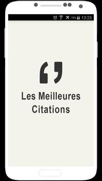 Citations en Français poster