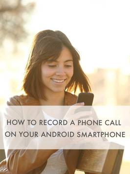 How to record phone call guide poster