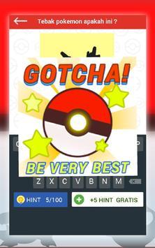 Tebak Gambar Pokemon Go apk screenshot