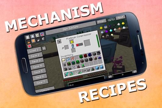 Mechanism Recipes for MCPE poster