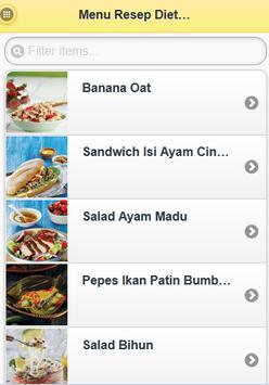 Menu Resep Diet Sehat apk screenshot