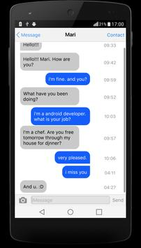 SMS iMessenger OS9 for Android apk screenshot