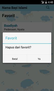 Nama Bayi Muslim apk screenshot