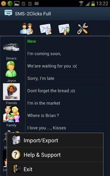 SMS 2Clicks apk screenshot