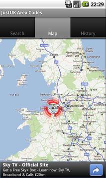 Just UK Area Codes apk screenshot